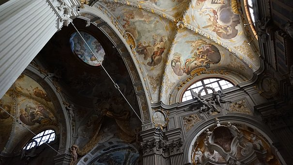Church, Italy, Fresco, Painting, Decorations, Religion
