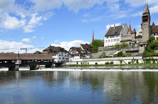 Bremgarten, Reuss Front, Wooden Bridge