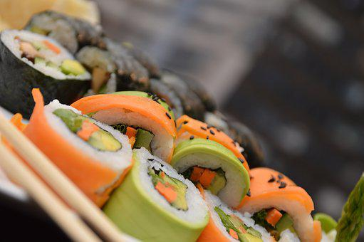 Sushi, Food, Seafood, Japanese, Japan, Roll, Meal, Rice