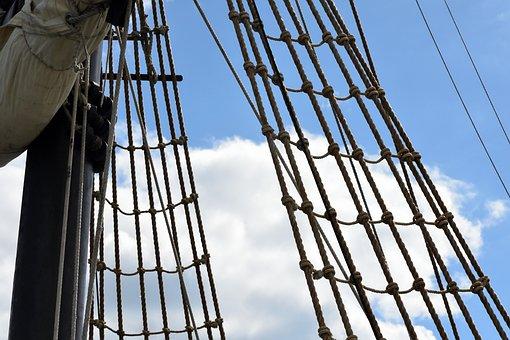 Ropes, Boat, Sea, Sailboat, Node, Strings, Rigging