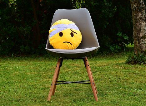 Get Well Soon, Smiley, Cute, Plush, Yellow, Sad