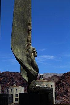 Hoover Dam, Statue, Nevada