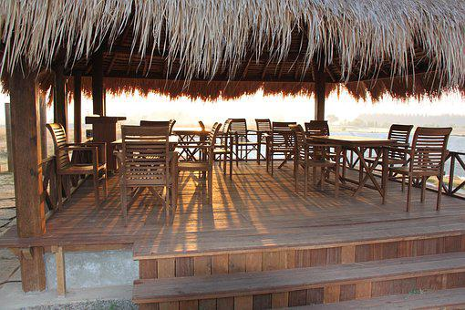 Sit-out, Chairs, Tables, Gazebo, Outdoor, Summer, Wood