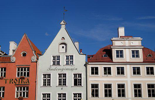 Tallinn, At Home, Roof, Window, Europe, Building