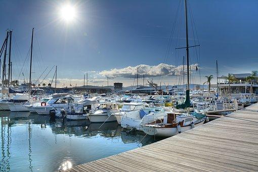 Hdr, Harbour, Port, Vibrant, Boat, St Raphael