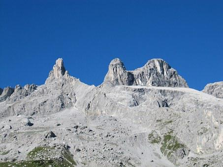 Three Towers, Montafon, Vorarlberg, Austria, Alpine