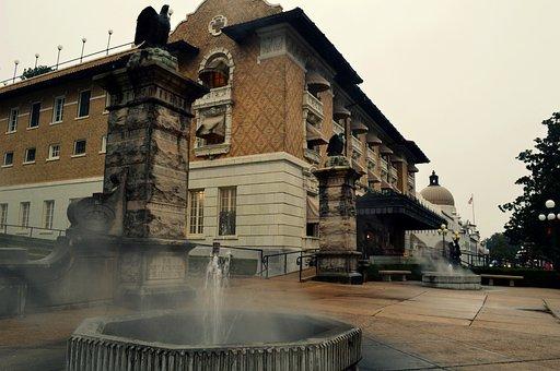 Bathhouse, Bath, Arkansas, Hot Sprigs, Spa, Hot, Steam