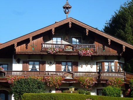 Home, Bavaria, Traditionally, Germany, Architecture