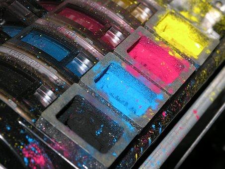 Toner, Color, Ink, Copier, Xerox, Cmyk, Powder