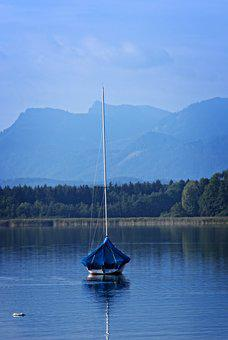 Boot, Anchorage, Lake, Landscape, Upper Bavaria