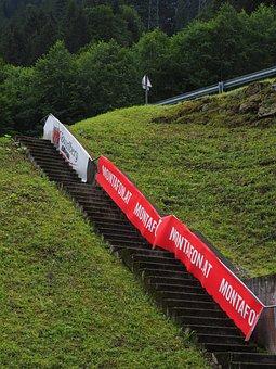 Montafoner Stair Running, Stairs, Rise, Start, Mountain
