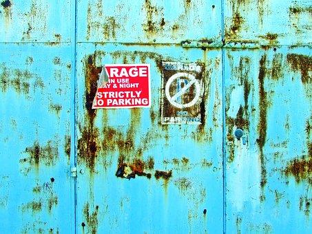 Background, Garage Doors, No Parking, Grungy Doors