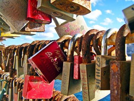 Locks, Old Lock, Padlocks, Bridge, Old, Metal, Security