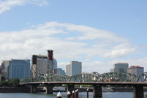 Bridge, Portland, Oregon, Hawthorne Bridge, Landscape