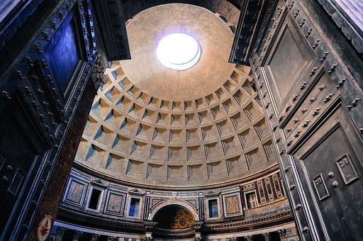 Temple, Church, Pantheon, Rome, Architecture, Religion