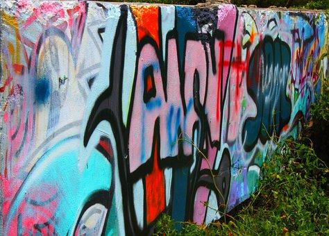 Graffiti, Wall, Painting, Street, Urban, Design, Dirty