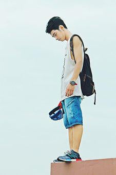 Boy, Shoes, Bags, Male, Fashion, Man, People, Young