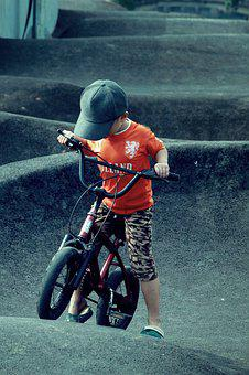 Kids, Boy, Skate, Bicycle, Biker, Teen