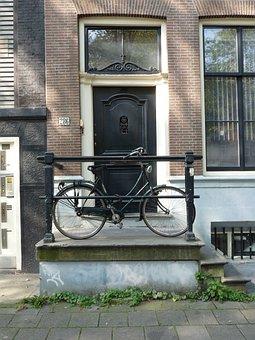 Bike, Front Door, Input Range, Building, Facade, City