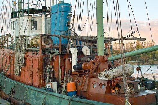Old Tug, Port, Caen, Calvados, Sailboat, Jolly