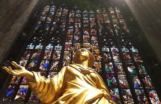 Madonnina, Duomo, Milan, Italy, Cathedral, Church