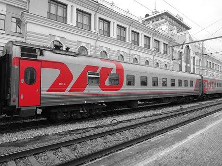 Train, Wagon, Russia, Gleise, Railway, Compartment