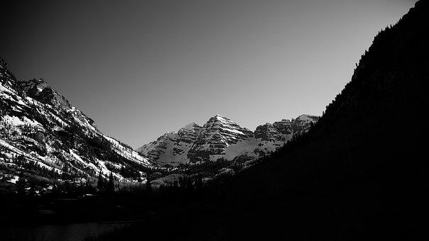 Dark, Mountain, Light, Peace