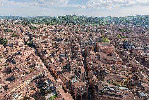 Italy, Roof, Aerial, Old, Town, Travel, Italian