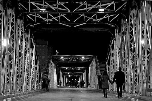 Bridge, Night, City, Lights, River, Urban, Capital