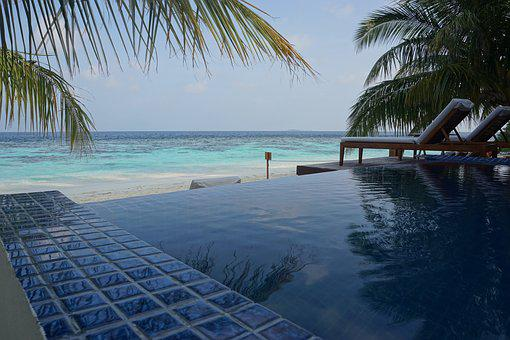 Pool, Infinity, Sea, Beach, Tropical, Resort, Vacation