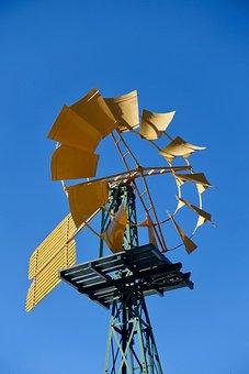 Windmill, Pump, Agriculture, Wind, Rural