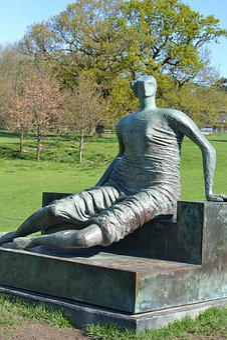 Sculpture, Culture, Modern, Man, Park, Out Doors