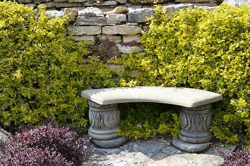 Bench, Garden, Green, Relaxation, Poland, Sit, Spring