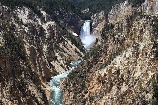 Yellowstone, National Park, Grand Canyon, Waterfalls