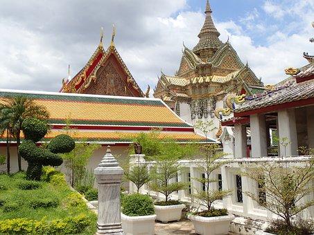 Bangkok, Asia, Buddha, Palace, Temple, Thailand, Garden