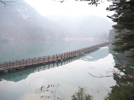 Fog, Bridge, The River