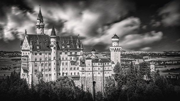 Neuschwanstein, Castle Neuschwanstein, Germany
