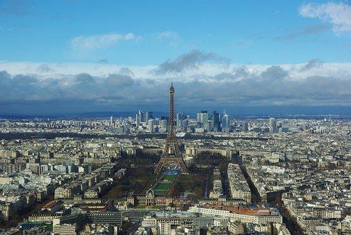 Paris, City, Landscape, Metropolis, Light, Modern Art