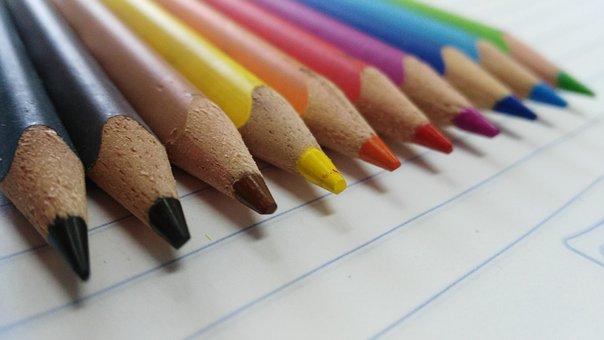 Color, School, Pencils