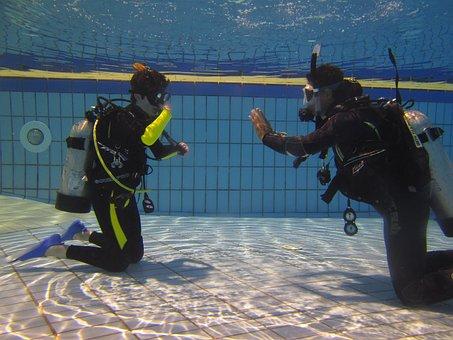 Diving, Teaching, Scuba Diving, Exercise, Water, Pool