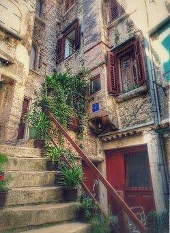 Stairs, Romantic, Architecture, Fairytale, Old