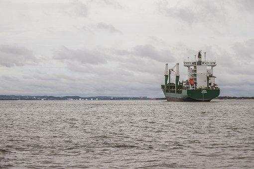 Cartagena, Ship, Sea, Bay, Horizon, Boat, Fishing, Port