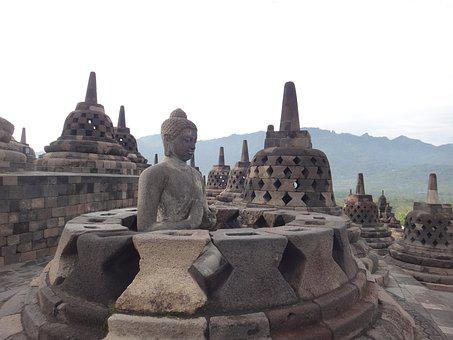 Borobudur, Indonesia, Java, Temple, Religion, Buddhism