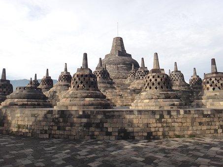 Borobudur, Indonesia, Temple, B, Buddhism, Java