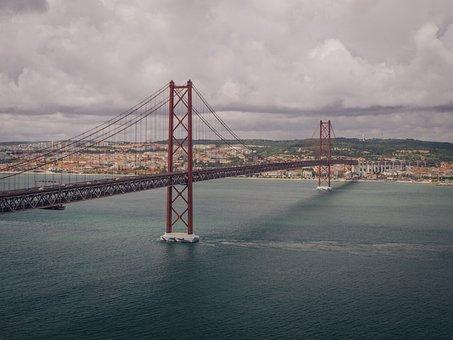 25th Of April Bridge, Bridge, Lisbon, Red Bridge
