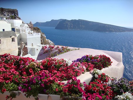 Santorini, Greece, Caldera, Oia, Volcano