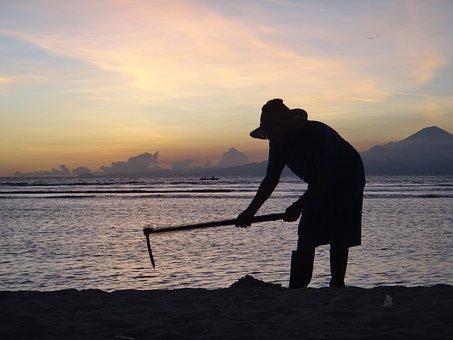 Indonesia, Beach, Sun, Sunset, Evening, Travel, Sea