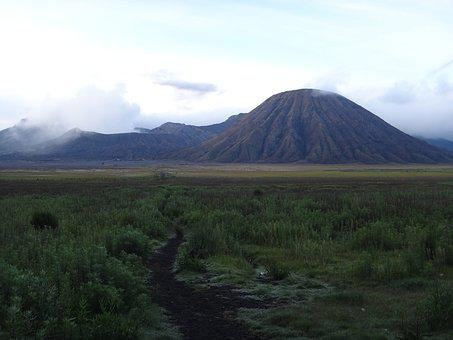 Bromo, Volcano, Indonesia, Cloud Of Smoke, Steam