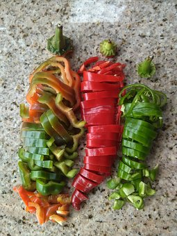 Peppers, Taco, Hot, Ghost, Garden, Vegetables, Organic