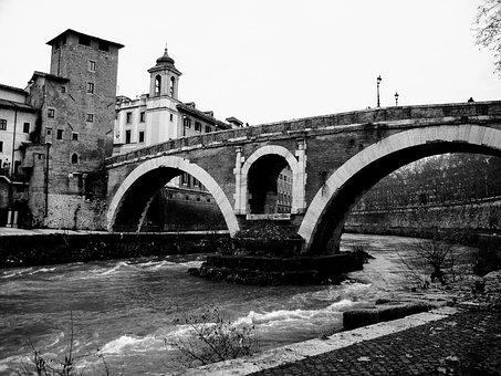 Bridge, Rome, Ancient Rome, Tiber, Italy